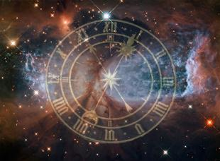 A clock face hovering in space
